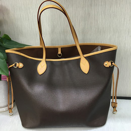 0089b907a520 Top Quality Never Bag Women Brand Shoulder Bag Classic Canvas Women  Shopping Bags Real Leather Full Handbag MM GM