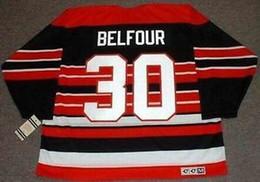 $enCountryForm.capitalKeyWord Australia - ED BELFOUR Chicago Blackhawks 1992 CCM Vintage M&N Custom Any Name&No. Hockey Personalized Jerseys