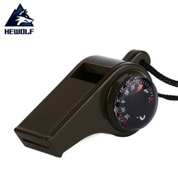 Wholesale Hewolf Outdoor in1 Whistle Compass Thermometer Emergency Survival Tool For Camping Hiking Climbing Drop Shipping hot