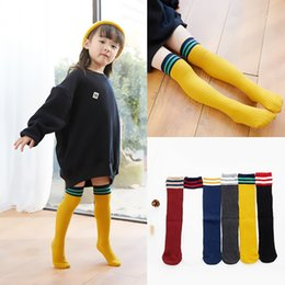 69a302f846be99 Kids high fashion socKs online shopping - Baby Stripes Stockings Socks Kids  Knee High Long Socks