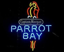 Wholesale neon parrot sign for sale – custom Custom New Captain Morgan Parrot Real Glass Neon Sign light Beer Bar Sign Send need photo x15 quot
