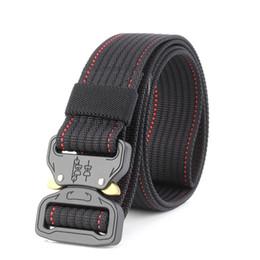 Chinese  New Nylon Belt Men Army Tactical Belt SWAT Combat Belts Knock Off Emergency Survival Waist Tactical Gear Waistband B04 manufacturers