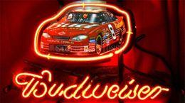 race car lights 2019 - NEON SIGN ForEarnhardt Jr Budweiser #8 Winston Race Cup Car GLASS Tube BEER BAR PUB store display Shop Light Signs 17*14