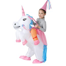0393f78ca6d9 Adult Children Inflatable Unicorn Costumes Set for Halloween Christmas  Fancy Party Dress Prom Carnival costume Suit