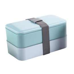Discount heat seals - Wholesale-High Quality Eco-friendly Nontoxic Double Layer Sealed Heat Preservation and Microwaveable Lunch Box Three Col