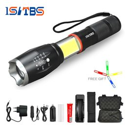 Divers flashlight rechargeable online shopping - Multifunction Led flashlight Lumens CREE XML T6 L2 torch hidden COB design flashlight tail super magnet design