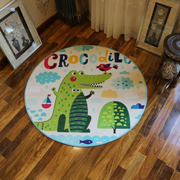 kitchen floor mats rugs NZ - Swivel Chair Cloakroom Carpet Children's Room Computer Chair Circular Cartoon Floor Mat Study Room Blue Ceiling Mat Rugs For Kitchen Bedroom