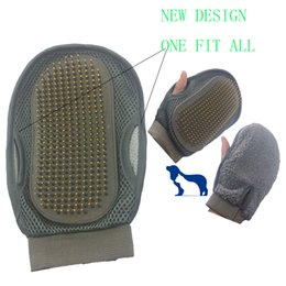 fur cleaning NZ - Brand New Design Dog Cat Bath Grooming Washing Clean Massage Glove Fur Cleaning Pet Hair Brush