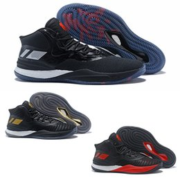 300185585e31 2018 High quality D Rose 8 VIII Black Gold Red Blue Wearproof Basketball  Shoes for Mens Trainers Derrick 8s Cheap Sports Sneakers Size40-46