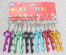 key shaped bottle openers Australia - Bottle Openers Key Shape Bottle Openers Beer Wine Bottle Opener Keychain Ring Open Bar Drinking Accessories
