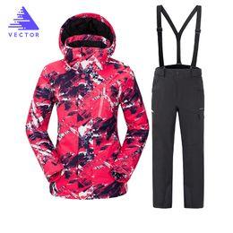 VECTOR Brand Ski Suit Women Warm Waterproof Skiing Suits Set Ladies Outdoor  Sport Winter Coats Snowboard Snow Jackets and Pants f7c7e629a