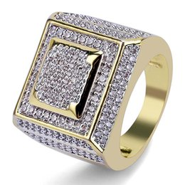 China mens ring vintage hip hop jewelry Multi-layer Square Zircon iced out copper rings luxury Business type fashion Jewelry wholesale supplier luxury wedding bands suppliers