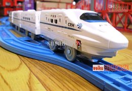 Railway Toys Electric NZ - Electric toys orbit train, electric toy train gift China Railways High-speed CRH2