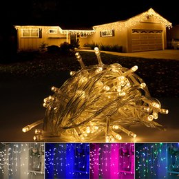 Blue icicle christmas lights outdoor canada best selling blue wholesale led icicle string lights 5m 216leds christmas xmas fairy lights outdoor home for wedding party curtain garden decoration aloadofball Choice Image