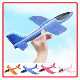 Boy Toys Helicopter NZ - 48cm Flying Toy Foam Throwing Glider Air Plane Inertia Aircraft Toy Hand Launch Airplane Model for Kids Children Boy Girl as Gift