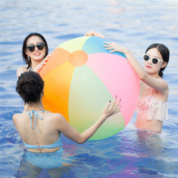 $enCountryForm.capitalKeyWord NZ - Super Big 80cm PVC Inflatable Beach Ball For Children Play Game Fun In Beach Swimming Pool Outdoor