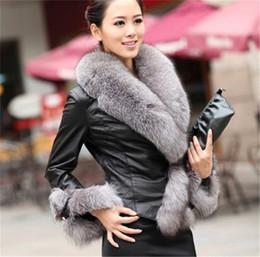 Body Warmer Coats Canada - Fashion Womens Lady Black Winter Faux Sheep Fur Collar Long Sleeve Winter Warm Coat Body Slim Outwear Top Jacket Fur coat Plus Sizes WT05
