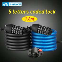 $enCountryForm.capitalKeyWord NZ - INBIKE 1.8m Bicycle Lock 5 Digital Combination Bike Cable Lock Anti-theft Coded Bike Accessories