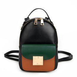 841fc3358f 2017 Fashion new Female bag College wind High quality PU leather Women Backpack  Korean mini backpack Design shoulder bags girl
