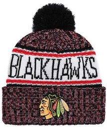 32fdc2602 Discount Blackhawks Beanie hat Sideline Cold Weather Graphite Official  Revers Sport Knit Hat All Teams winter Knitted Wool Skull Cap