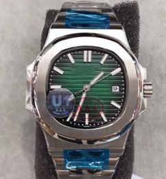 Опт U1 пакет Autoutomatic движение часы мужчины зеленый циферблат Nautilus 5711 / 1A-010 спортивные часы из нержавеющей браслет Monor Hemmo.