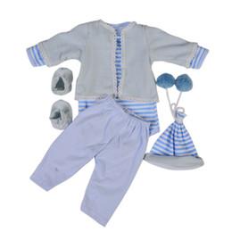 $enCountryForm.capitalKeyWord Australia - KEIUMI 22-23 Inch Reborn Baby Doll Clothes For boy Wholesale Blue Baby Clothes bebe Hat Socks Pants shirt Coat Doll Accessories