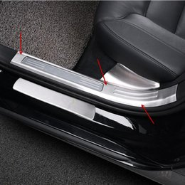 car door sill plates 2019 - Stainless steel Car Styling Door Sill Scuff Plate Welcome Pedal Threshold Strips for Volvo S90 2017-18 Auto interior acc