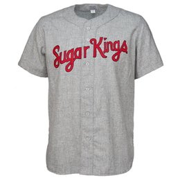 baseball jersey number stitching Canada - Havana Sugar Kings 1955 Road Jersey 100% Stitched Embroidery Logos Vintage Baseball Jerseys Custom Any Name Any Number Free Shipping