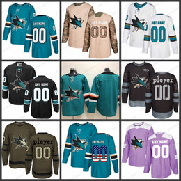 e326be8c2 Custom Mens Women Youth San Jose Sharks 8 Joe Pavelski 9 Evander Kane 19 Joe  Thornton 88 Brent Burns Jerseys S-3XL
