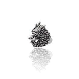 $enCountryForm.capitalKeyWord UK - Gothic Vintage Dragon Head Ring Men Punk Dragon Play Bead Rings Trendy Animal Biker Jewelry Halloween Xmas Gifts Anel Masculino