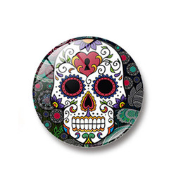 Chinese  10pc Glass Dome Round Cool Skull Refrigerator Sticker Fridge Magnet Message Holder Home Decoration manufacturers