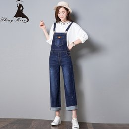 $enCountryForm.capitalKeyWord NZ - SHINYMORA Autumn Overalls for Women 2017 New Fashion Loose Jeans Pants Female Denim Jumpsuits Wide Leg Vintage Casual Jeans 323