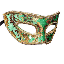 face mask pattern UK - Hanzi_masks Adult Women Man Prince Lace Sequin Venetian Masks Masquerade Half Face Mask Dress Party Decor Christmas Navidad New Year
