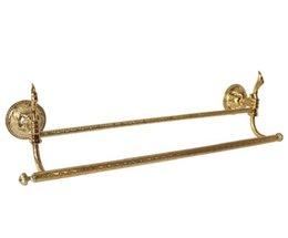"""$enCountryForm.capitalKeyWord UK - Gold clour bathroom brass double towel bar With flowers 26""""Length"""