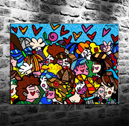Großhandel Feiertags-Feier, Segeltuch-Malerei-Wohnzimmer-Ausgangsdekor-modernes Wandbild-Kunst-Ölgemälde