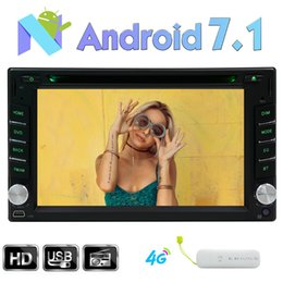 car obd screen Canada - 2GB+32G Android 7.1 Car DVD Player 1024*600 Screen Double 2 Din Headunit Autoradio GPS Bluetooth Stereo Phone Link SWC OBD DAB WIFI