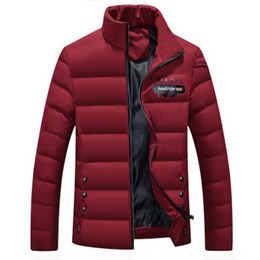 Wholesale padded winter coats sale for sale - Group buy Warm Men Winter Jackets Solid Color Outerwear Winter Fashion Padded Cotton Coat Ultralight Casual Man Parka Coats Quality Big Sale