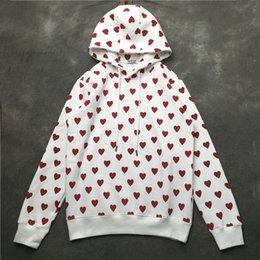 1cee1e7d367469 Heart sweatsHirt online shopping - Love Red Heart Printed Mens Womens  Designer Sweatshirts Hip Hop Casual