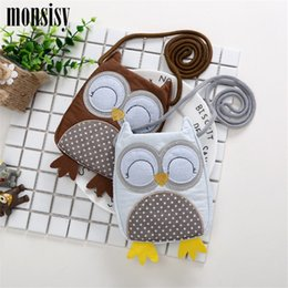 Small Coin Purse For Girls NZ - Monsisy Chilren Coin Purse Animal Owl Change Purse For Baby Toddler Coin Pouch Money Bag Kawaii Owl Toy Kid Boy Girl Small Bag