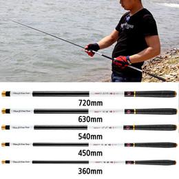 Wholesale Fishing Rod 4.5 5.4 6.3 7.2M Portable Telescopic Rod Ultra-light Steel Pole Carp Hand Rod Telescopic Fishing Pole Fishing Tackle