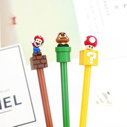 Music Stationery Gifts Australia - 3pc Mixed Color Kawaii Movie Cartoon Gelpen Creative Stationery Office School Gel Pen Music Design Student Gift Mushroom Ink Pen