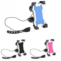 Einstellbare Fahrradhalter Fahrrad Lenker Clip Halterung mit Horn Fahrradhalterung Halter für 3,5-7 zoll Handy GPS Radfahren Teile
