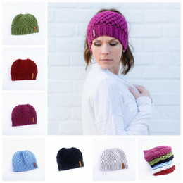 d9b5f775eff Ladies white hats online shopping - 6Colors Warm hat Beanie Hats Labeling  Wool Knitting Caps Skull