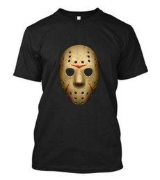 friday 13th jason mask UK - New Jason Hockey Mask Vorhees Friday The Crystal Lake 13 13th X MK Black T Shirt