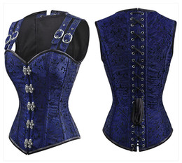 $enCountryForm.capitalKeyWord Australia - Charmian Women's Gothic Steampunk Corset Brocade Steel Boned Overbust Corset Vest Waist Cincher Corselet Espartilhos For Women