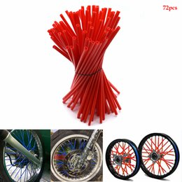 motorcycle spokes UK - For 72pcs motorcycle motocross Wheel spoke skins Universal for bmw forza 250 CR 125 CR CRF XR XL CRM 85 125 150 230 250 450CR YZ KX