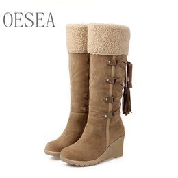 Discount boots united states - 34-43 New winter women boots 2018 fashion Europe and the United States sweet warm women's boots rivet cross buckle