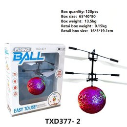 Chinese  10 types RC Drone Flying copter Ball Aircraft Helicopter Led Flashing Light Up Toys Induction Electric Toy sensor Kids Children Christmas B manufacturers