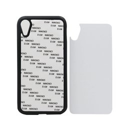 transparent housing for iphone UK - 10 pcs For iPhone XS Rubber Case 2D Sublimation DIY Soft Silicon Blank Phone Housing for iPhone Xr Xs Max With Aluminum Plate