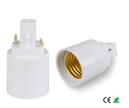 pin holder wholesale UK - 2 pins or 4 pins G24 male to E27 female G24d G24q to E26 E27 light bulb base holder converter adapter